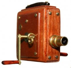 Camera, Silent Movie Camera Handheld - Wood