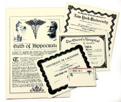 Medical Documents Set - Parchment