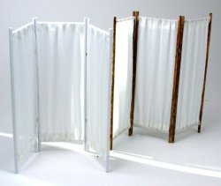 Privacy Screen, Curtained Room Divider