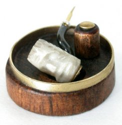 Pipe, Meerschaum with Ashtray