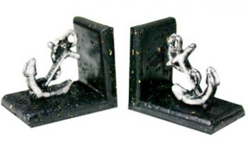 Bookends, Anchor Silver