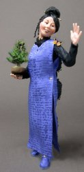Bonsai Lady with Butterfly
