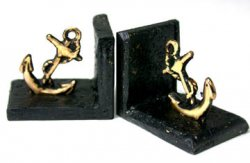 Bookends, Anchor Brass