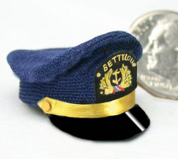 Hat, Yachting Cap in Blue