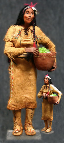 Indian Woman, Standing Doe - Click Image to Close