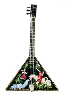 Balalaika, Folk Art Pattern