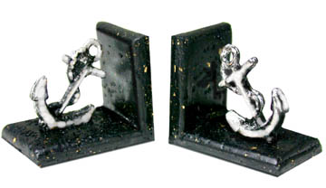 Bookends, Anchor Silver - Click Image to Close